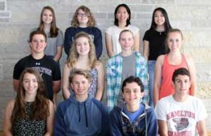 Hamilton May students of the month photo