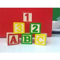 Childcare-fundraiser 1-2-3 and ABC blocks