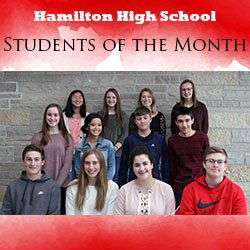 Photo of November students of the month