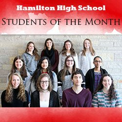 Jan. students of the month photo