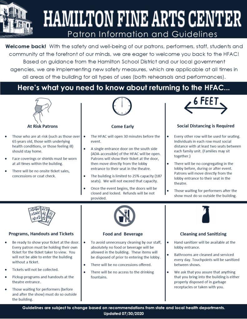 HFAC Opening Summary (Patrons)