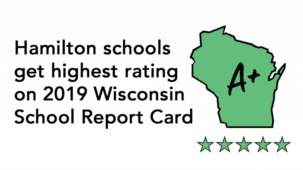 Hamilton schools get highest rating on 2019 Wisconsin School Report Card