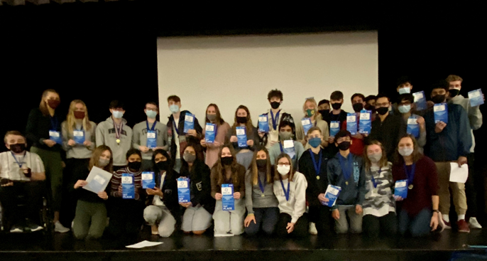 Group photo of Hamilton DECA students