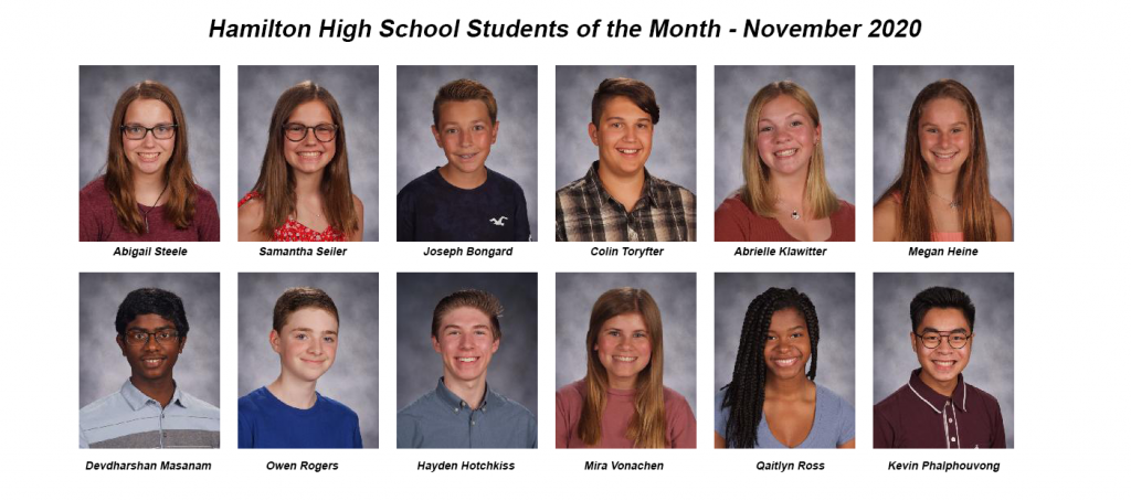 Student of the month November 2020 photos