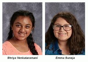 Two students Shriya and Emma