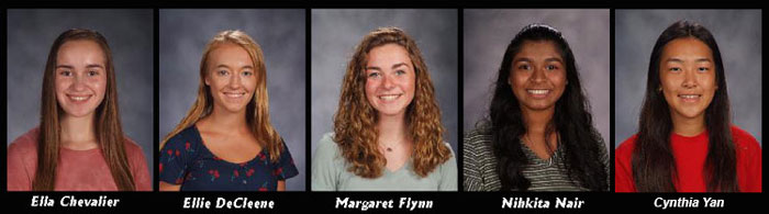 Photos of five students names Presidential Scholar candidates