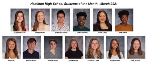 Photo panel of recognized students