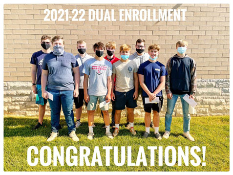 Photo of students enrolled in Dual Academy